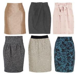 короткая модная юбка