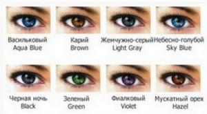 Линзы контактные цветные для глаз