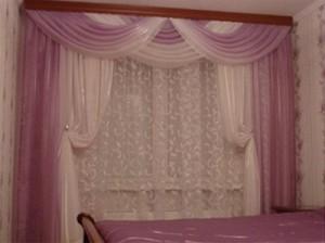 шторы с покрывалом